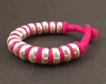 Silver Tribal Snake Bracelet Handcrafted by Indian Artisans