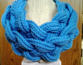 Crocheted Double Layer Braided Cowl