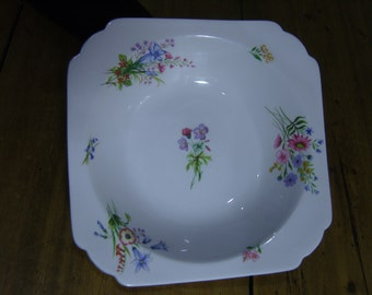 Shelley Wild Flowers Fruit Serving Bowl
