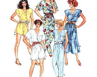 Butterick Sewing Pattern 3825 Misses' Dress, Jumpsuit  Size:  14-*16-18  Uncut