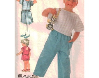 Simplicity Sewing Pattern 7532 Child's Top, Pull-on Skirt, Pants, Shorts  Size:  O  5-6-6X  Uncut