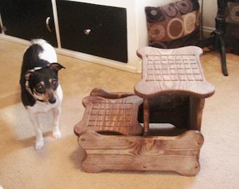 Dog Steps, Pet Steps, Dog Stairs, Wood Bone Shaped Dog Steps
