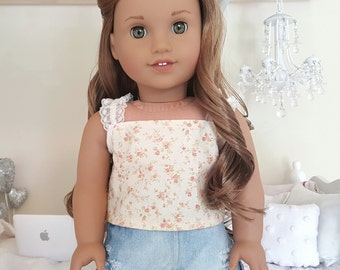 American girl doll floral top