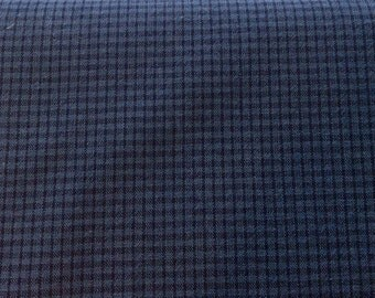 Woven fabric from Japan - diamonds - dark blue
