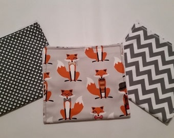 Gray Fox Burp Cloths