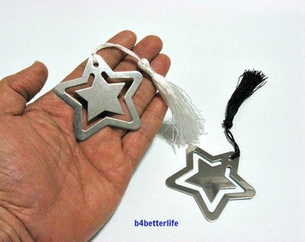2pcs Metal Bookmark with gift box. Ideal Party Favors. #Star.