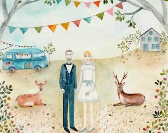 Custom, couple portrait, holiday gift, wedding, portrait couple personalisé, christmas gift, cadeau de noel, mariage, cadeau d'anniversaire