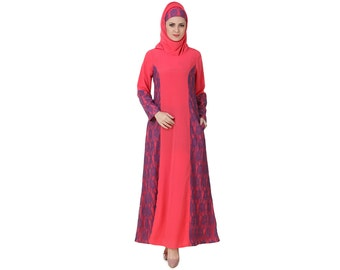 Mybatua Atia Crepe Sweet Pink Abaya, Jilbab For Trendy Muslim Dress, Maxi Evening Party Wear Latest Collection Islamic Clothing AY-440