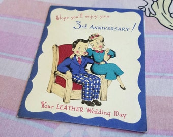 1930s Antique Anniversary Card