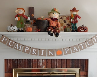 Halloween banner, pumpkin patch banner, halloween decor, halloween decoration, fall decor, fall decorations, pumpkin banner, pumpkin sign