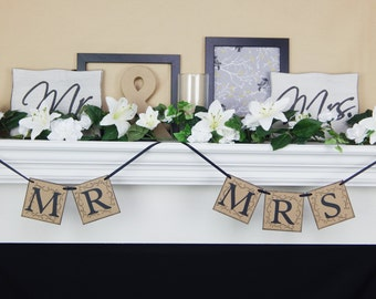 Mr and Mrs chair banner, bride and groom chair banner,bride & groom sign,bride and groom,mr and mrs sign,wedding decorations, wedding banner