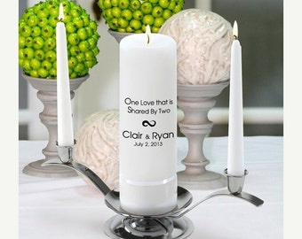 Personalized Wedding Unity Candle Set - One Love_330