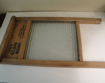 "Antique Vintage National Washboard Co. ""The Glass King"" Lingerie Washboard"