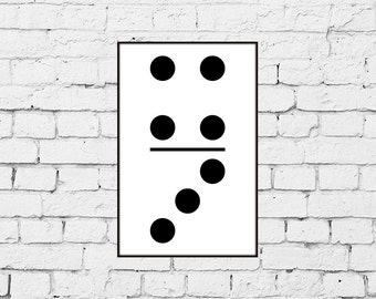 Four and Three Domino Print from Original Scandinavian Style Design