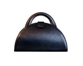 Classic Ladies Black Leather Bag