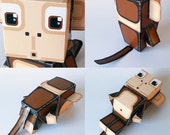 DIY paper craft activity kit. PHYSICAL PRODUCT - Make your own brown cheeky monkey paper toys.