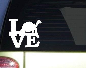 "Tortoise Love 6"" STICKER *I321* DECAL sea turtle zoo keeper turtle tortoise"
