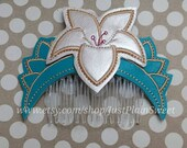 Warrior Princess Embroidered Hair Comb