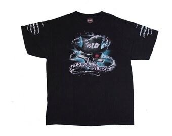 Harley Davidson of Salt Lake City, Utah T Shirt Size L, Skull SLC