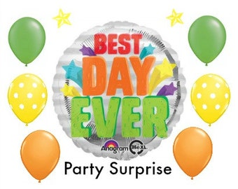 Best Day Ever Balloons Wedding Graduation Birthday Retirement Going Away New Job New House Party Balloons