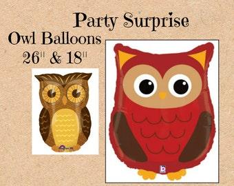 Woodland Owl Balloons Forest Woodland Balloons Safari Party,Farm Animal Balloon,Animal Party,Jungle Party Balloon,Birthday Balloon,