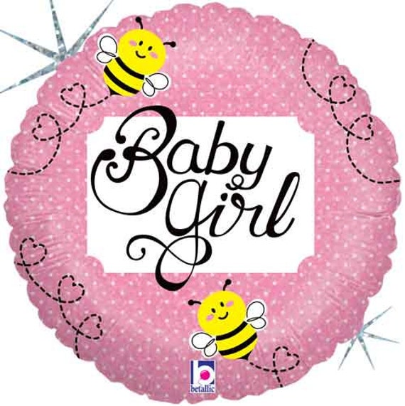 Baby Girl Bumblebee Shower Balloons New Bee Party