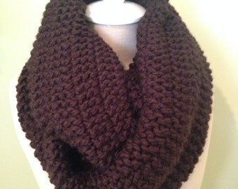 Infinity Scarf in Rich Dark Chocolat Brown