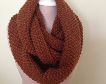 Infinity Scarf Rich Color of Mahogany