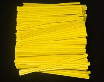Free Ship! Yellow Twist Ties - Assorted Quantities!  TP-4
