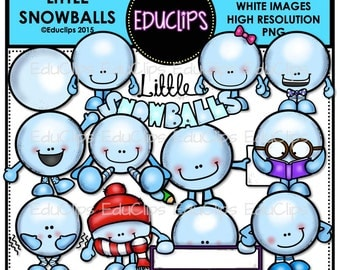 Little Snowballs Clip Art Bundle