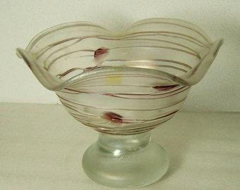 amazing large iridescent Poschinger Art glass bowl