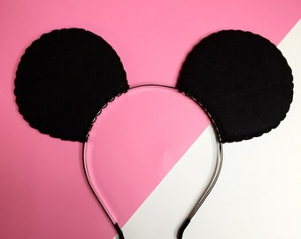 DIY Plain Disney Minnie Mouse (Mickey Mouse) Costume Ears