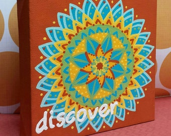 Handpainted DISCOVER Wall Art - Handmade Original Artwork - Only 1 available!
