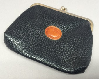 Vintage Dooney & Bourke Leather Coin Purse with Duck Logo **Has Issues**