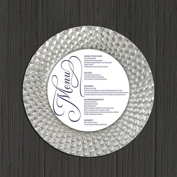 Wedding Menu Printable Round Wedding Menu By