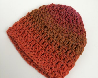 Orange Baby Crochet Hat - Orange 3-6 Month Old Hat - Fall Baby Hat - Orange Beanie for Babies - Handmade Hat