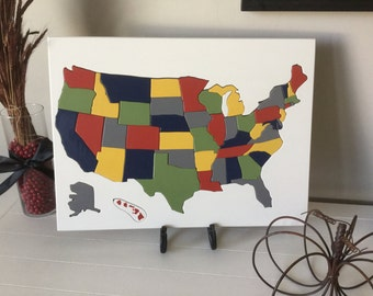 Wooden United States Puzzle