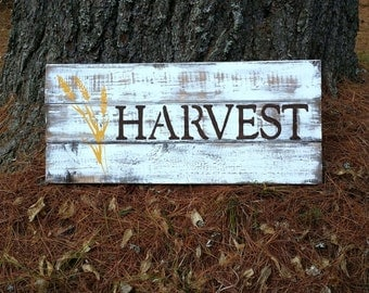 Distressed Wooden Harvest Fall Sign, Rustic Fall Decor, Reclaimed Fall Sign,  Country Fall Decor, Autumn Sign, Fall Wall Hanging