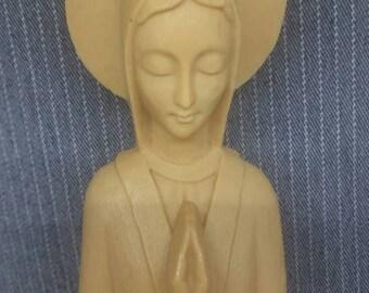 Pair Of Mid century modern madonna figurines Virgin Mary