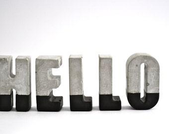 5 Concrete Letters - Custom