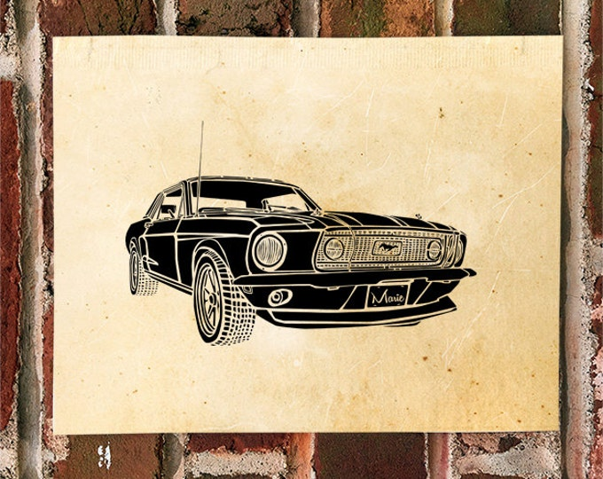 KillerBeeMoto: Limited Print Vintage American Engineered Muscle Car 1 of 50 Automotive Print