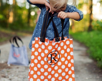 Monogrammed Trick or Treat Bag, Personalized Treat Bag