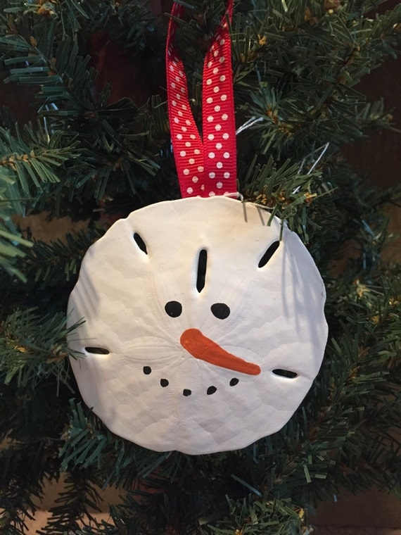 Adorable large sand dollar snowman face ornament for Snowman faces for crafts