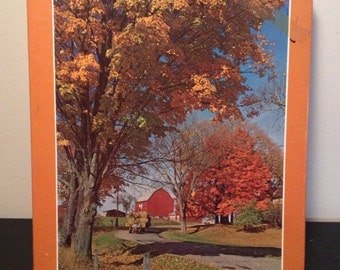 Whitman Guild Series Puzzle - 1000 Pieces - Vintage 1970s Jigsaw - 'Waupaca County, Wisconsin'
