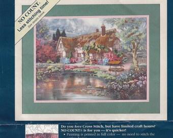 Sunset Twilight at Woodgreen Pond 13926 No Count Cross Stitch Kit