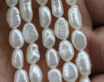5-6mmX7-9mm white small baroque pearl bead,baroque shaped pearls,irregular pearls,nugget shape pearls wholesale,chinese pearl,cheap pearl
