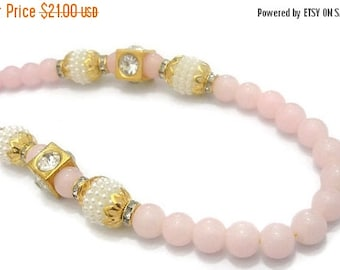 Necklace Light Pink pearl Jewelry Bollywood Necklace Designer Necklace Indian Handmade Jewelry Wedding Jewelry-Price for 01-IDJ04