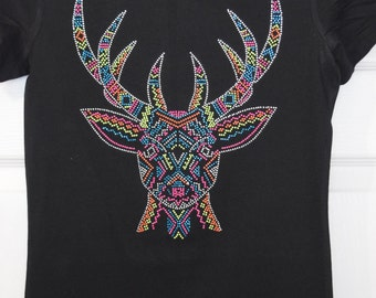 Deer/Doe face- Rhinestone and studs