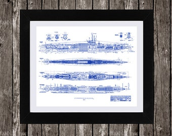 U boat blueprint art etsy u boat blueprint art marine art naval art vintage blueprint instant download malvernweather Image collections