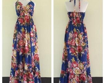 summer dresses/Maternity dress/ maxi summer dress/long dress/boho maxi dress/Halter Maxi Dress